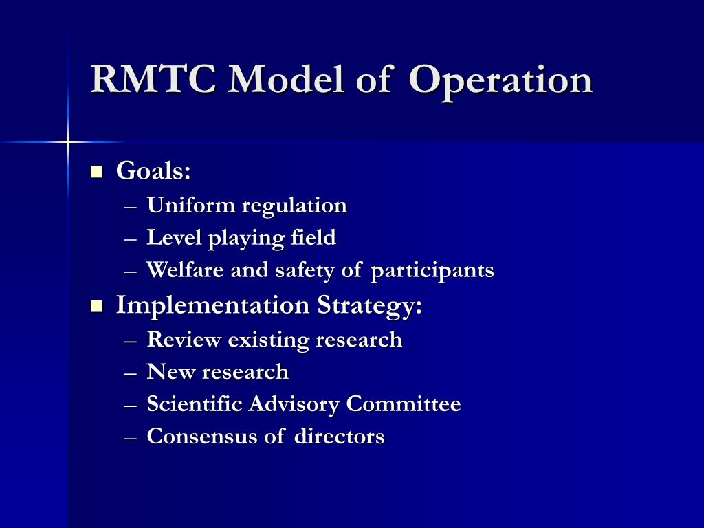RMTC Model of Operation