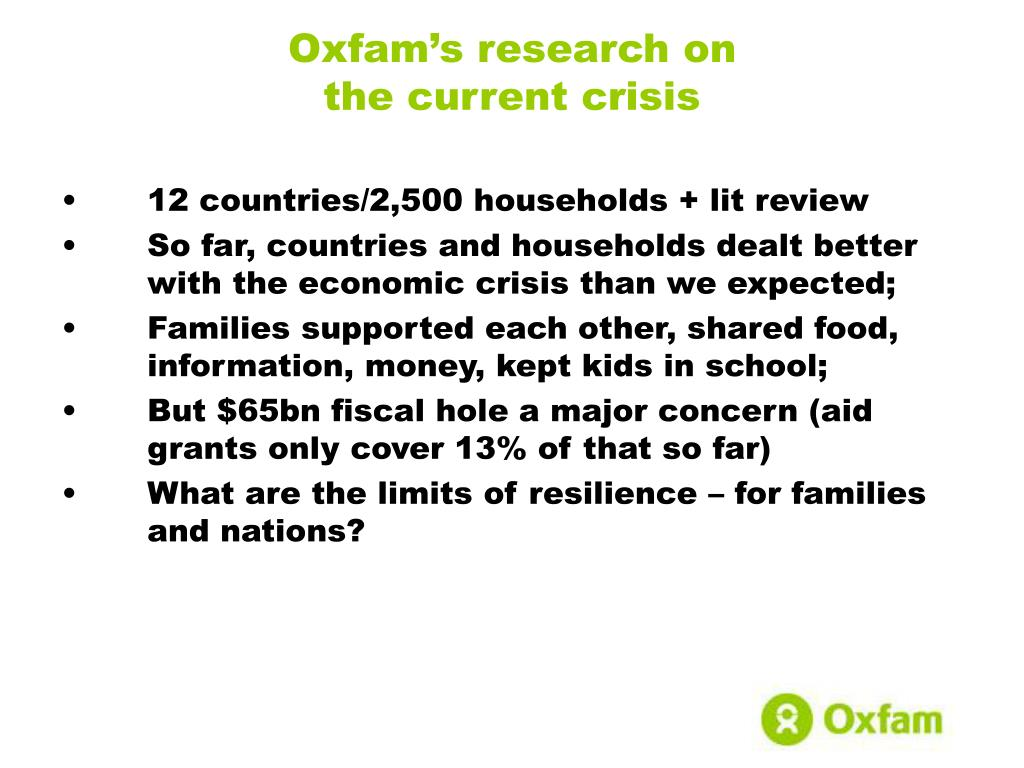 Oxfam's research on