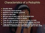characteristics of a pedophile