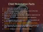 child molestation facts