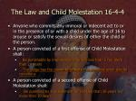 the law and child molestation 16 4 4