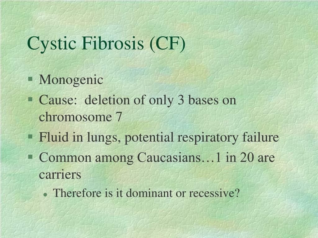 Cystic Fibrosis (CF)