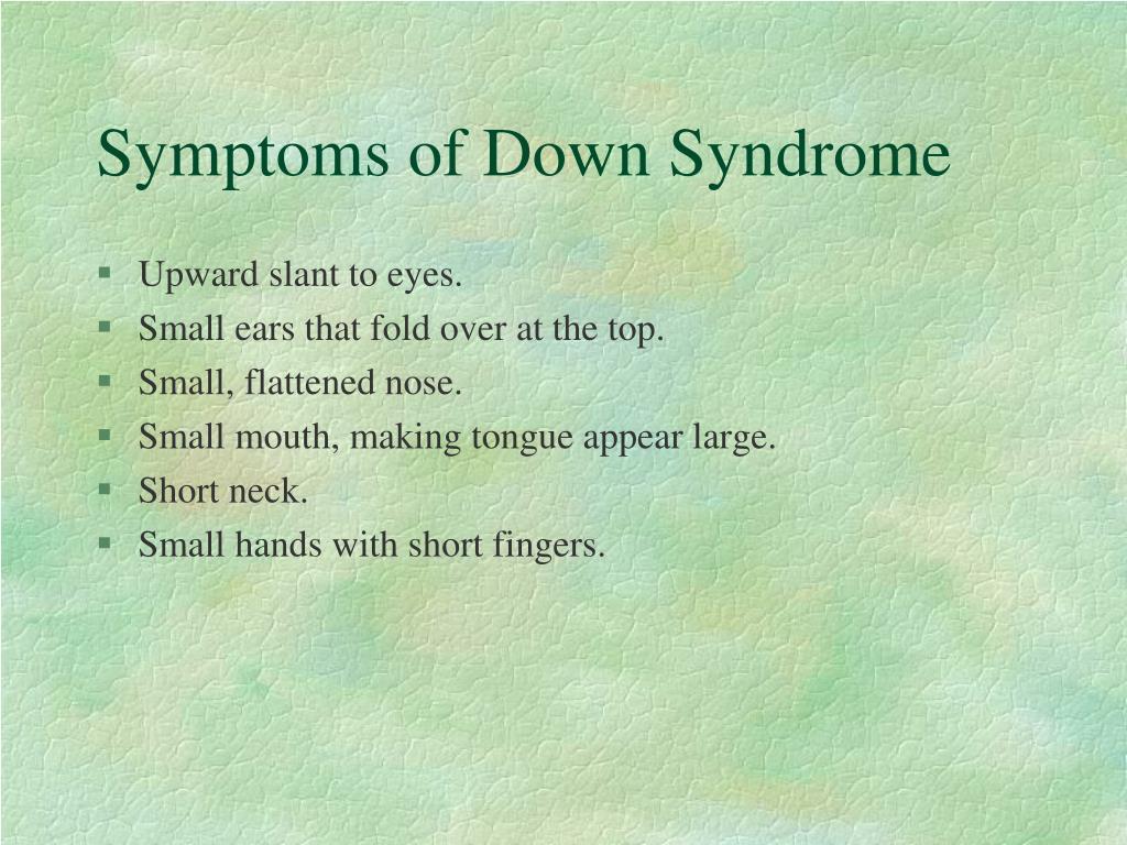 Symptoms of Down Syndrome