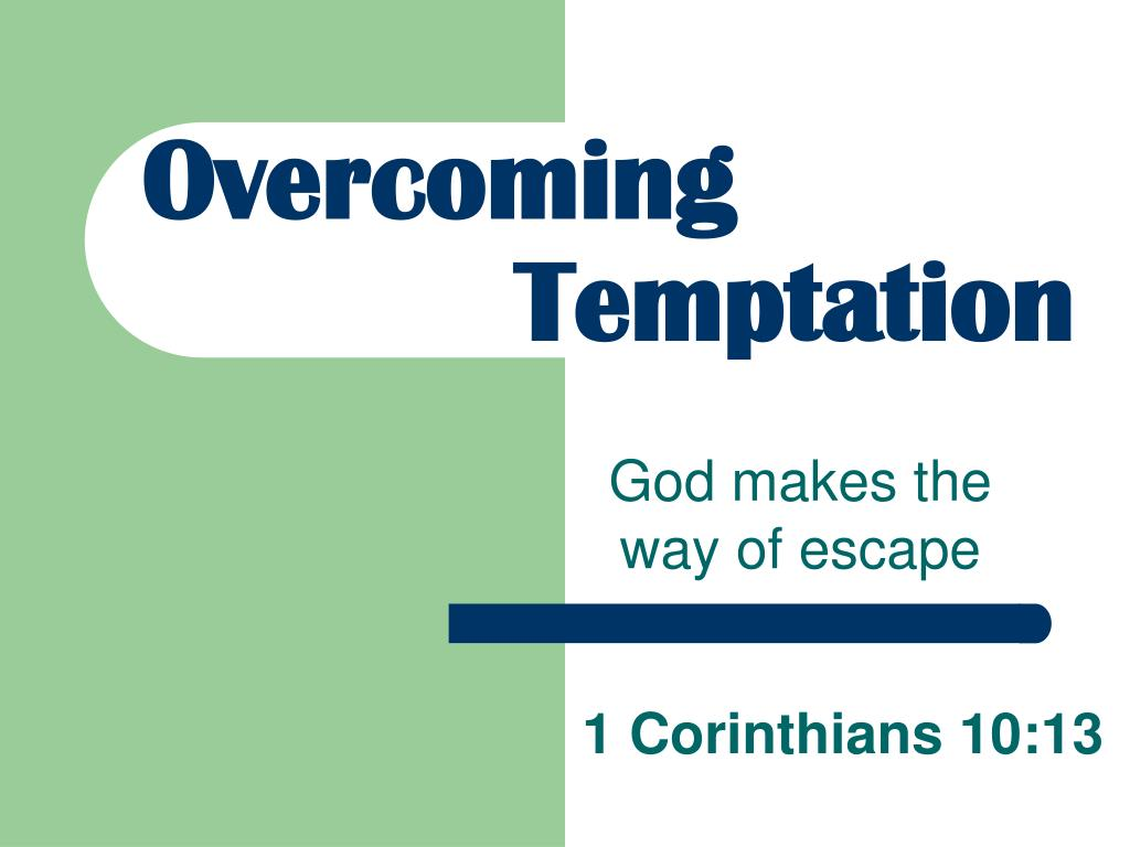 overcoming temptation l.
