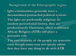 background of the ethnographic region8