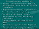 borrowing procedure financial capital