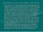 chief priest s account of the origin of alumu deity