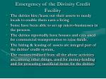 emergency of the divinity credit facility16