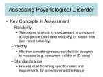assessing psychological disorder