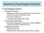assessing psychological disorder30