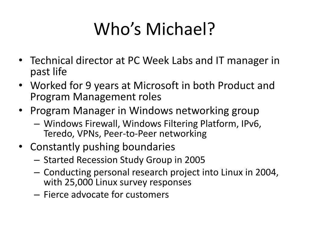 Who's Michael?