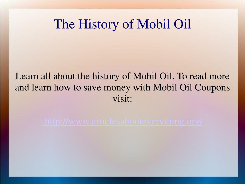 the history of mobil oil l.