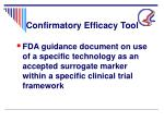 confirmatory efficacy tool
