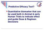 predictive efficacy tool24