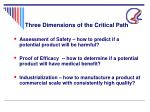 three dimensions of the critical path