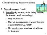 classification of resources cont