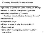 framing natural resource issues