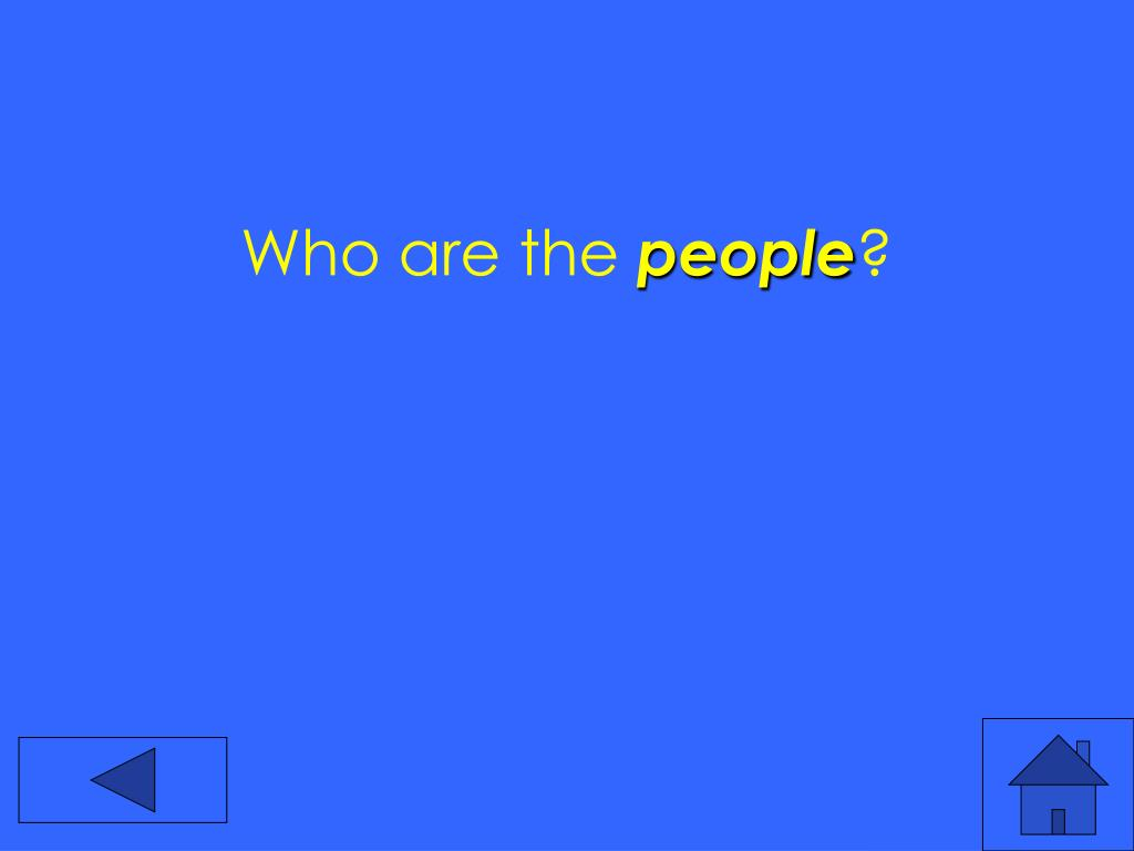 Who are the
