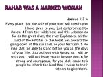 rahab was a marked woman