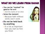 what do we learn from rahab