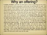 why an offering