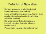 definition of naturalism