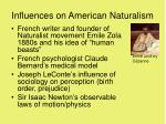 influences on american naturalism
