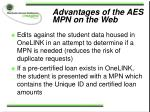 advantages of the aes mpn on the web