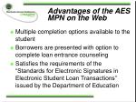 advantages of the aes mpn on the web28