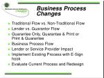 business process changes