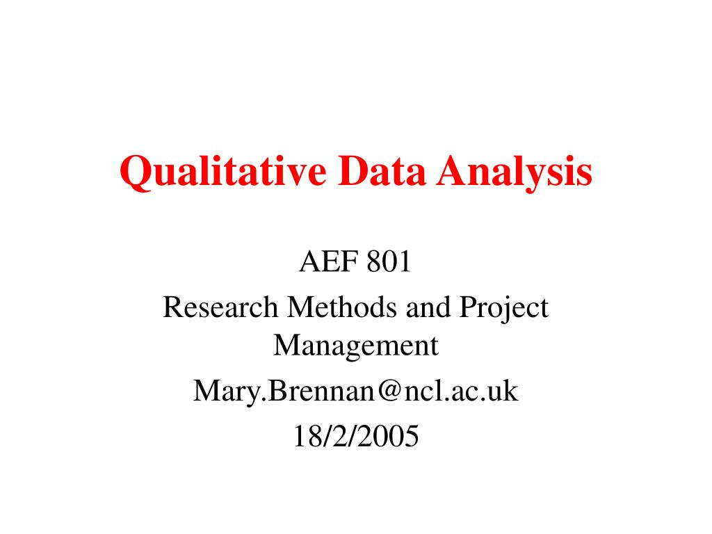 qualitative data analysis l.