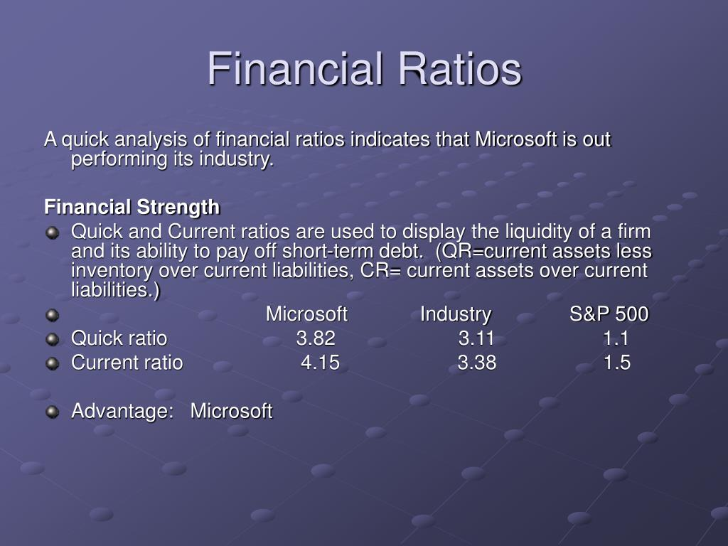 computer industry financial ratios They contain the financial ratios calculated for calculation of key business ratios industry norms for financial equations, and computer algorithms.