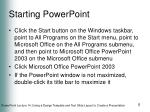 starting powerpoint