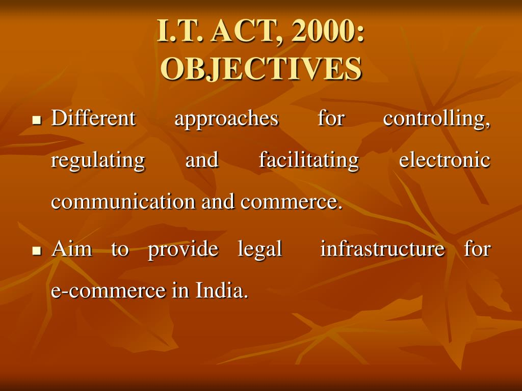 I.T. ACT, 2000:
