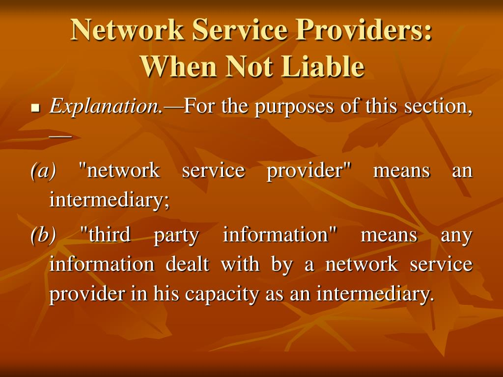 Network Service Providers: