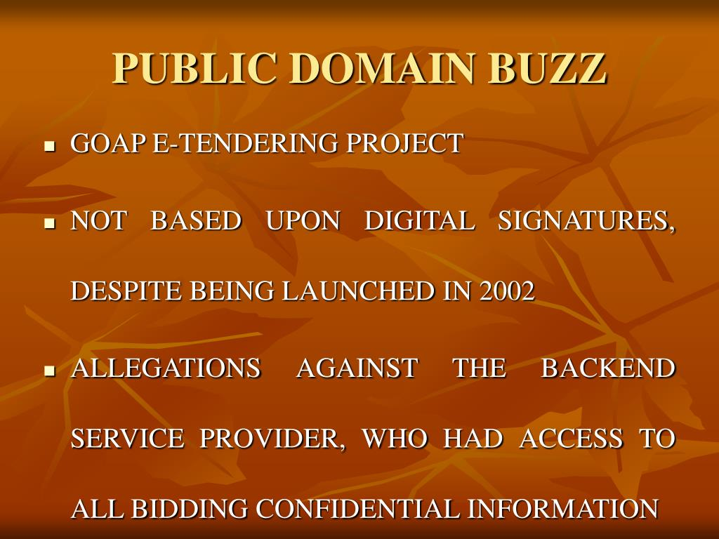 PUBLIC DOMAIN BUZZ