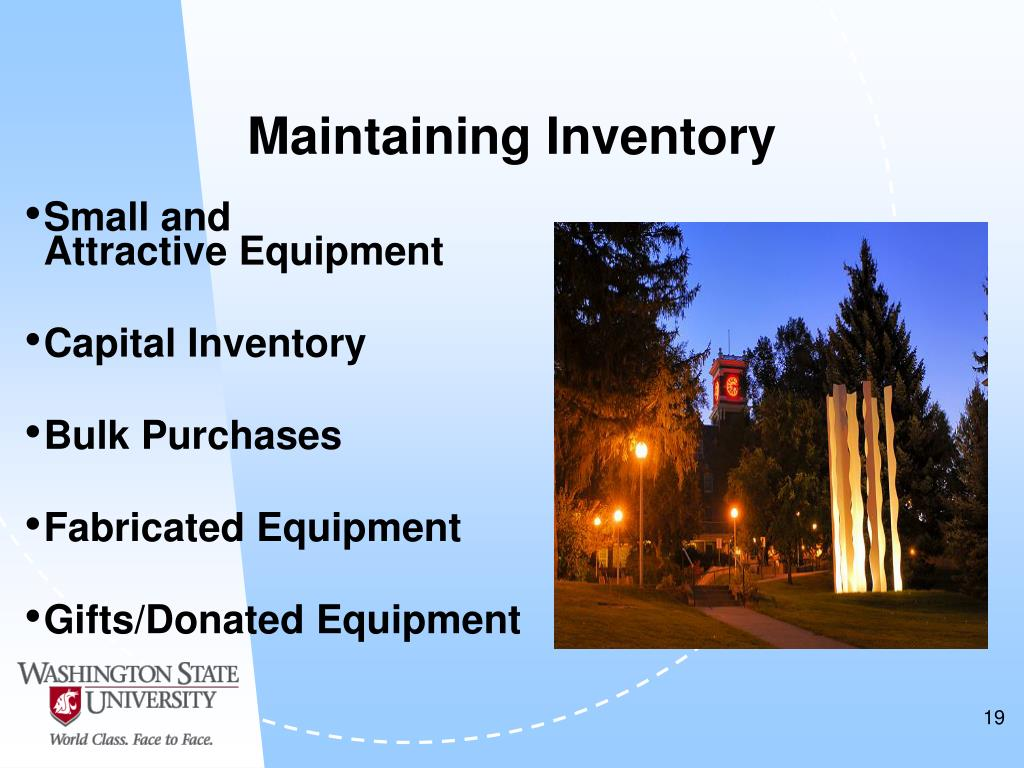Maintaining Inventory