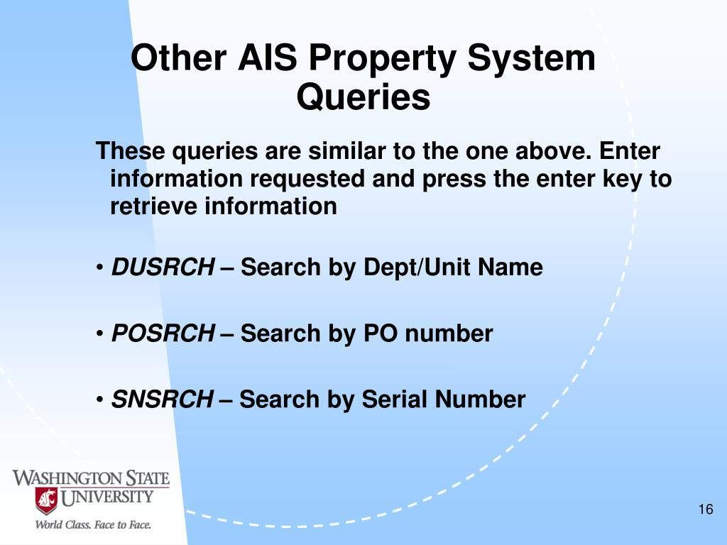 Other AIS Property System