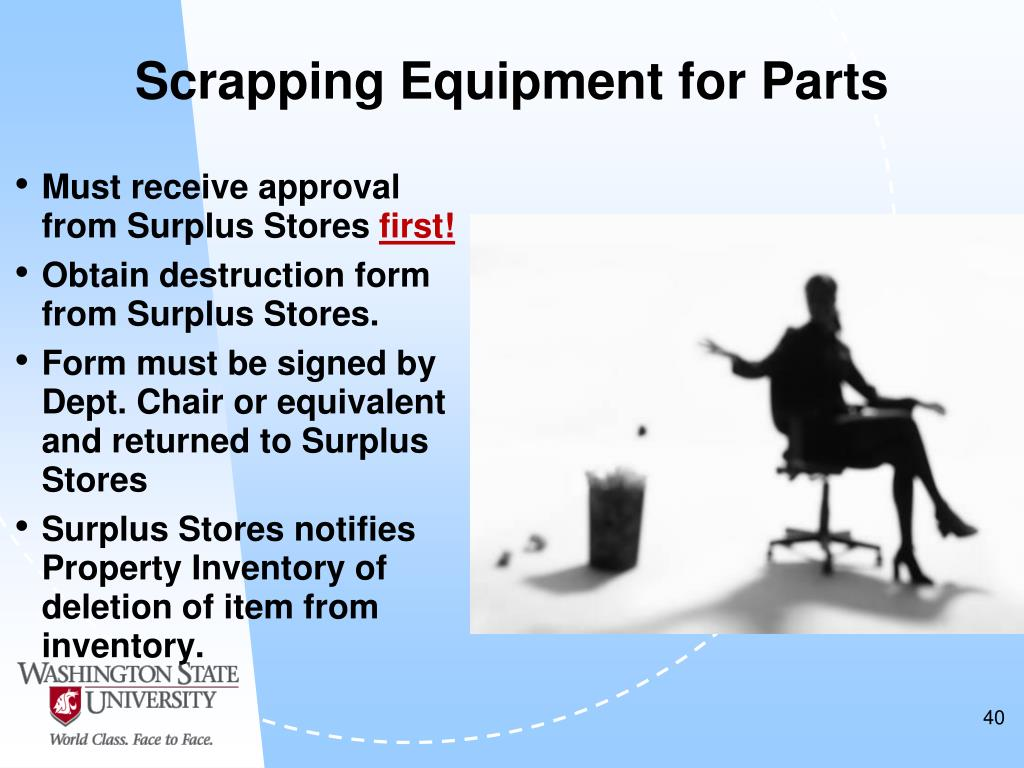 Scrapping Equipment for Parts