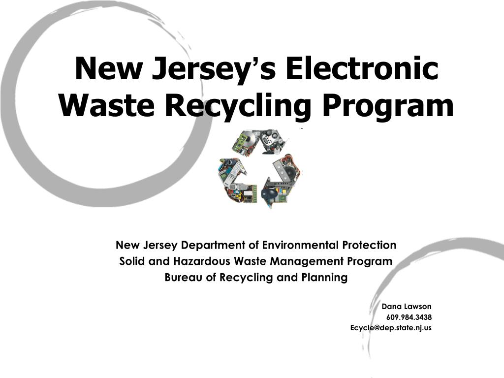 new jersey s electronic waste recycling program l.