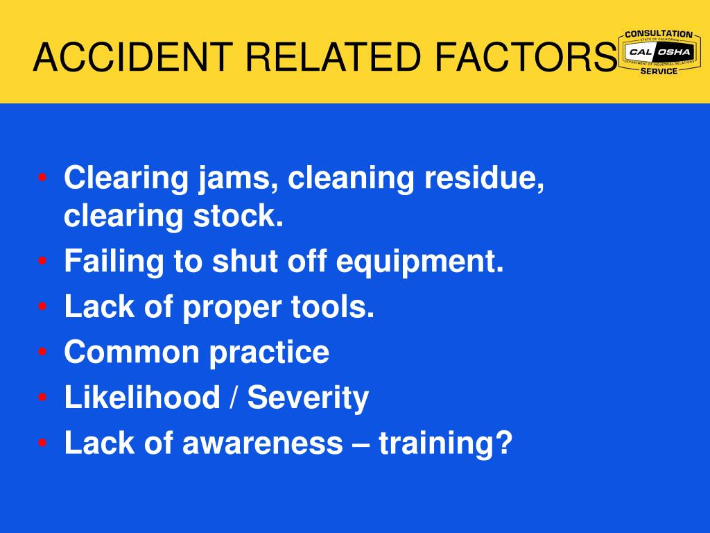 ACCIDENT RELATED FACTORS