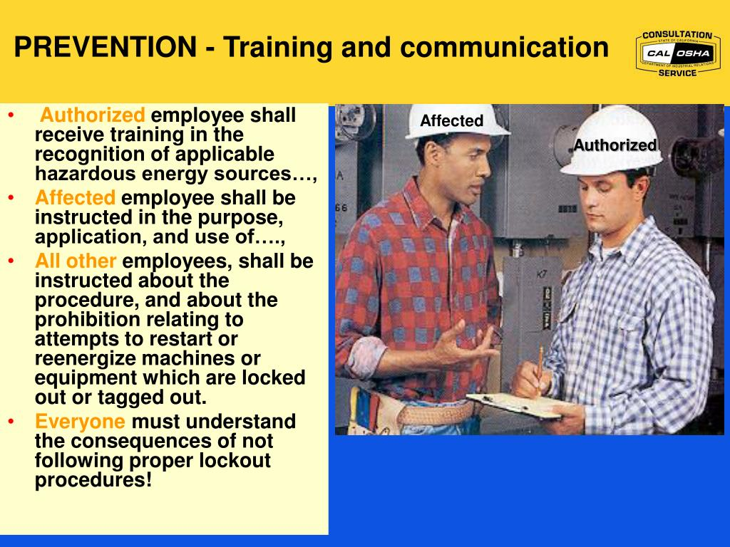 PREVENTION - Training and communication