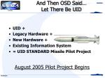 and then osd said let there be uid