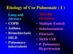 etiology of cor pulmonale i