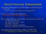 drexel university transportation