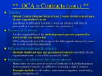 oca contracts cont