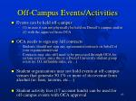 off campus events activities