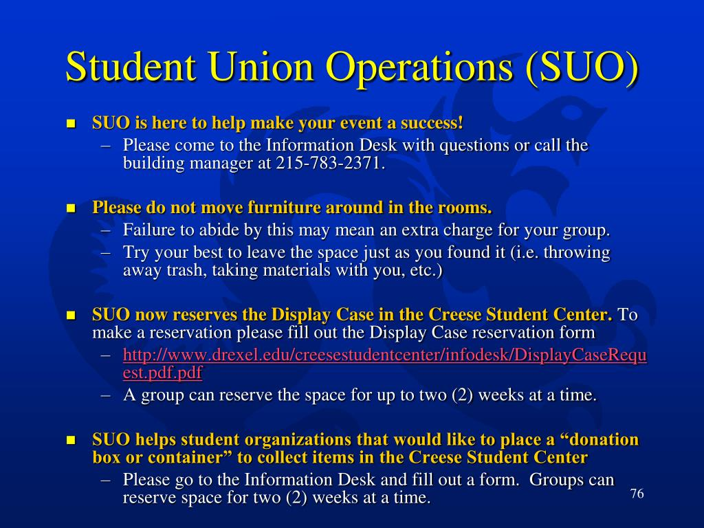 Student Union Operations (SUO)