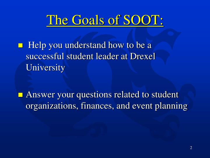 The goals of soot