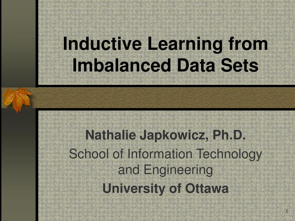 inductive learning from imbalanced data sets l.